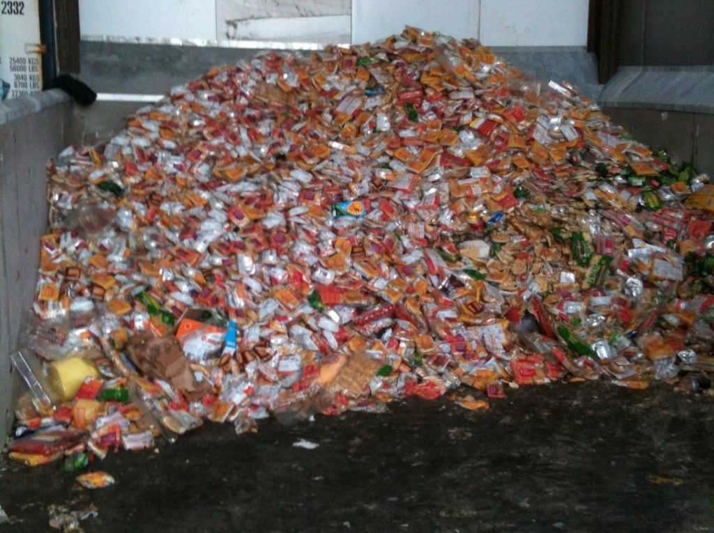 packaged waste